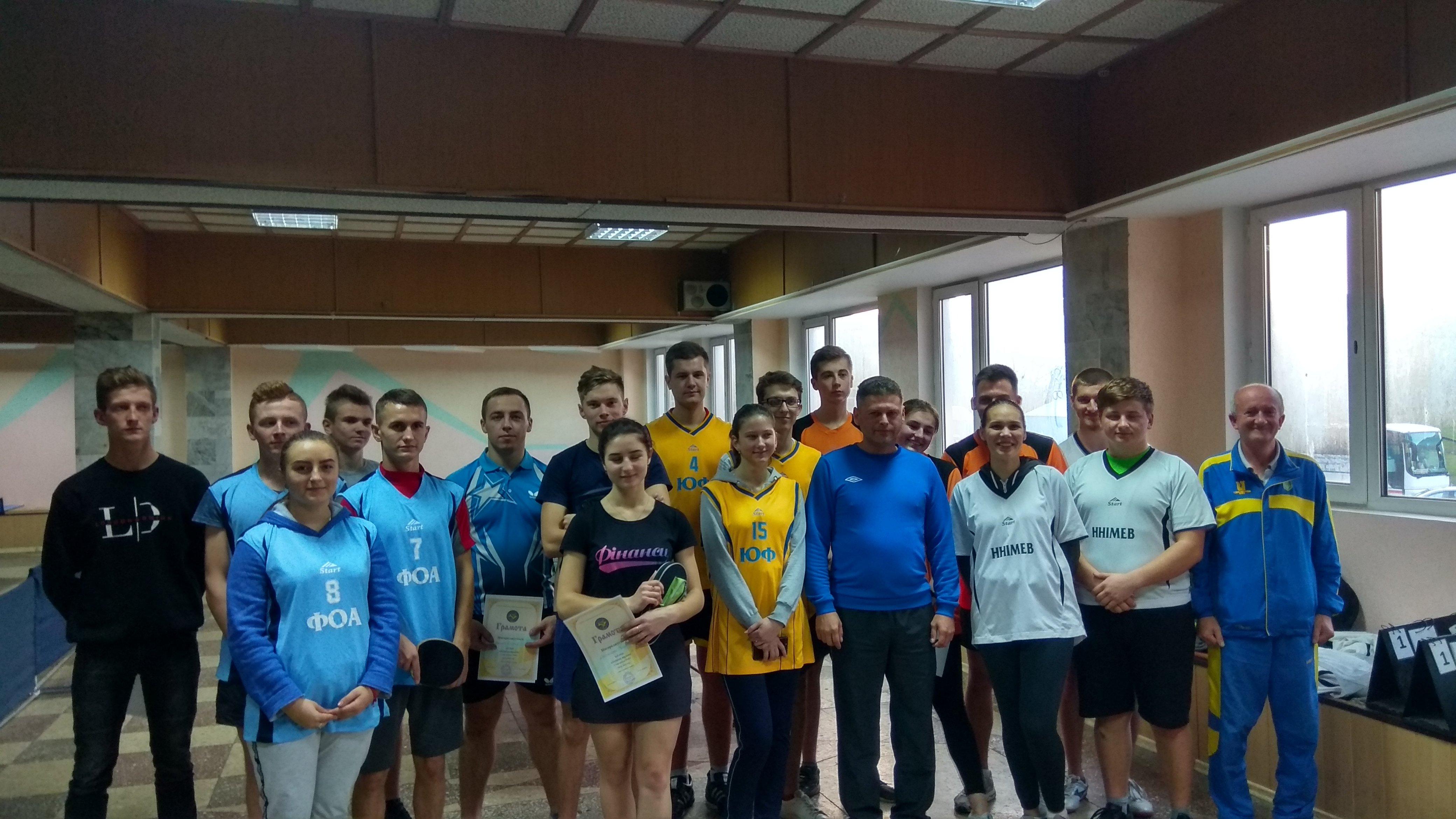 Вітаємо учасників змагань Спартакіади ТНЕУ з настільного тенісу!